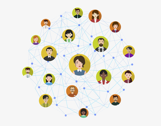 networking vector material, People Network, Vector, Decoration PNG Image  and Clipart