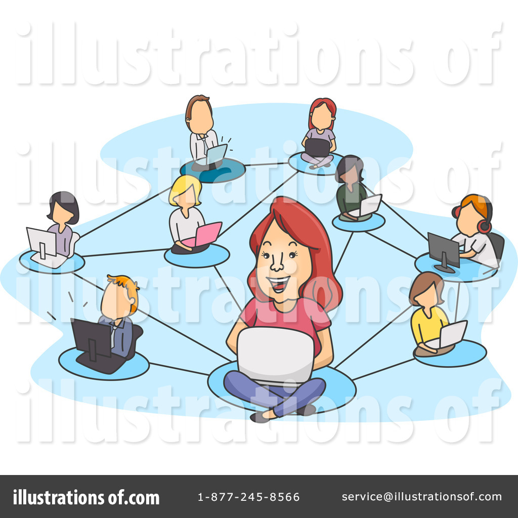 Royalty-Free (RF) Social Networking Clipart Illustration #1108511 by BNP  Design Studio