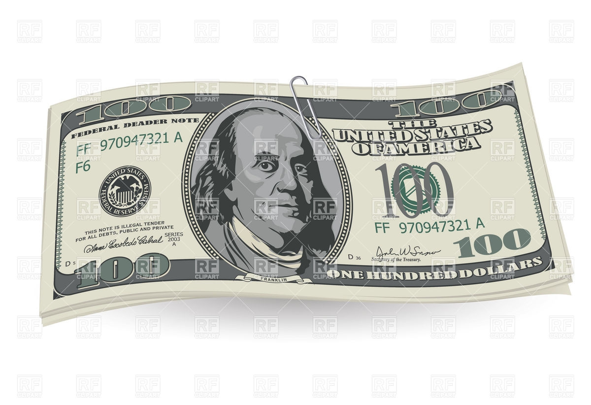 New 100 Dollar Bill Clipart #2154823. Embed codes for your blog or website. Download