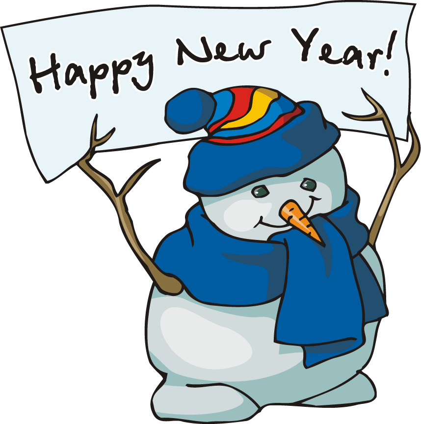 New And Free 2014 Happy New Year Snowman-New And Free 2014 Happy New Year Snowman Clip Art For Kids-7