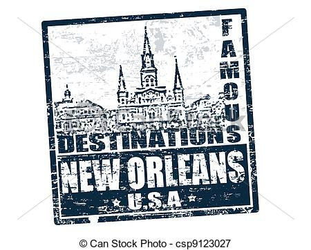 ... New Orleans stamp - Grunge rubber stamp with the text famous.