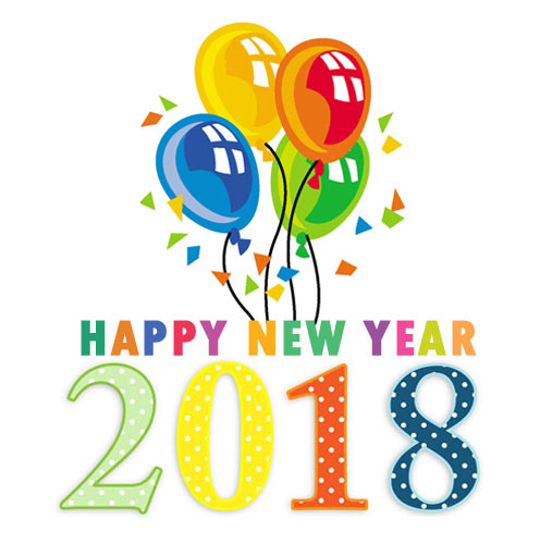 new year 2018 clipart