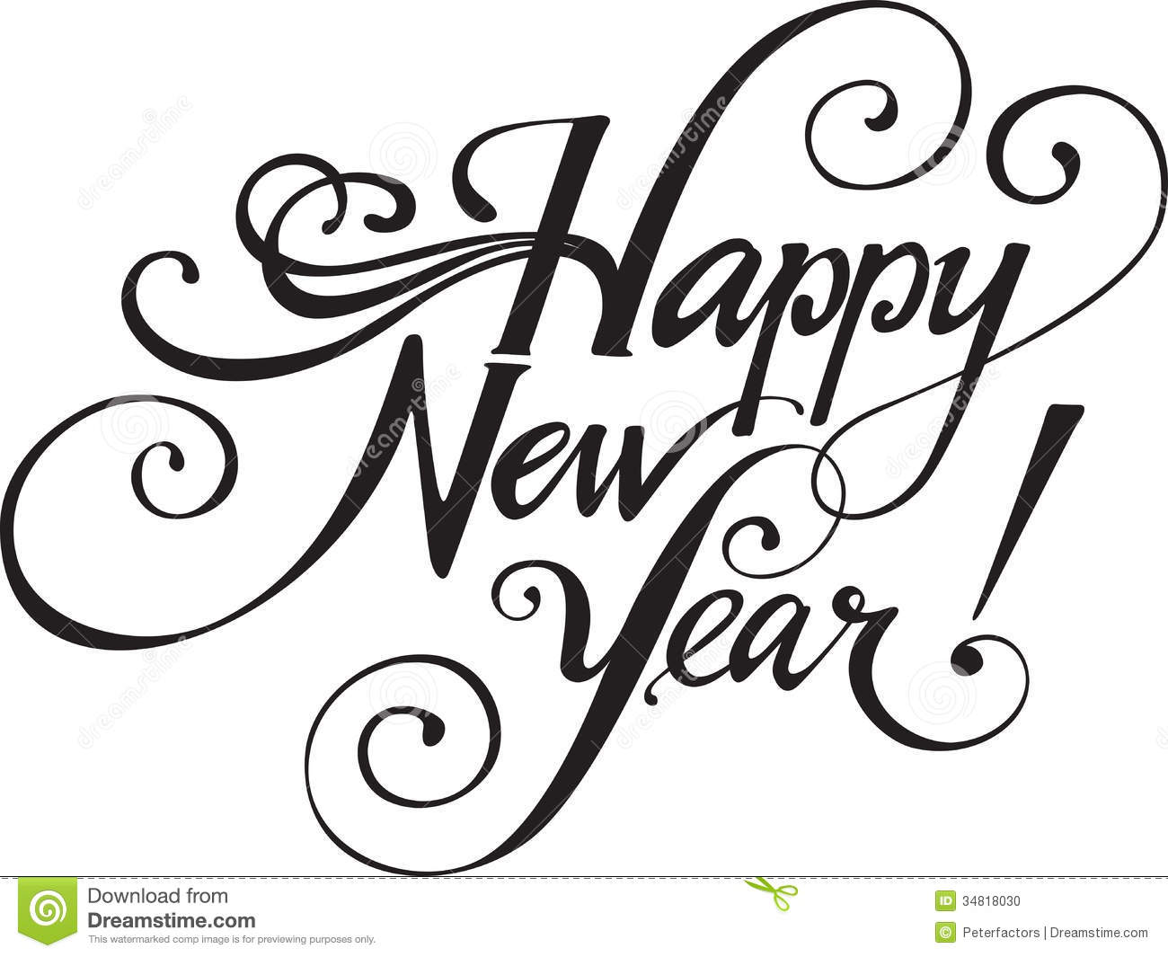 New Years 2014 Clip Art Black And White New Year 2014 Clip Art