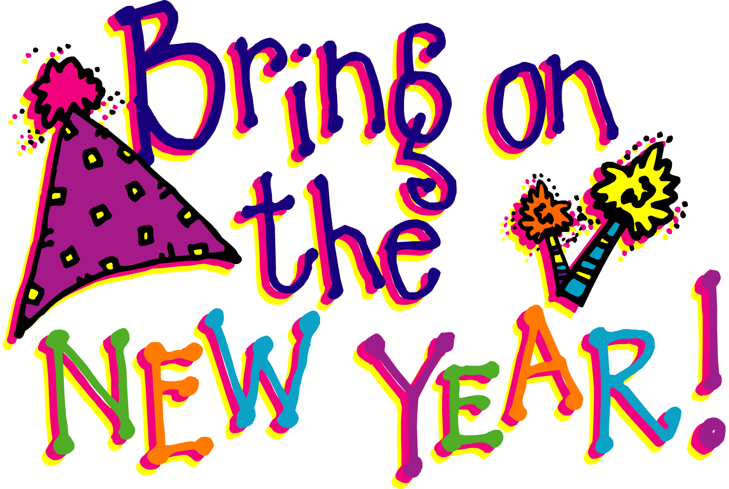 New Years Clip Art PG 1. Graphics And Or Fonts .