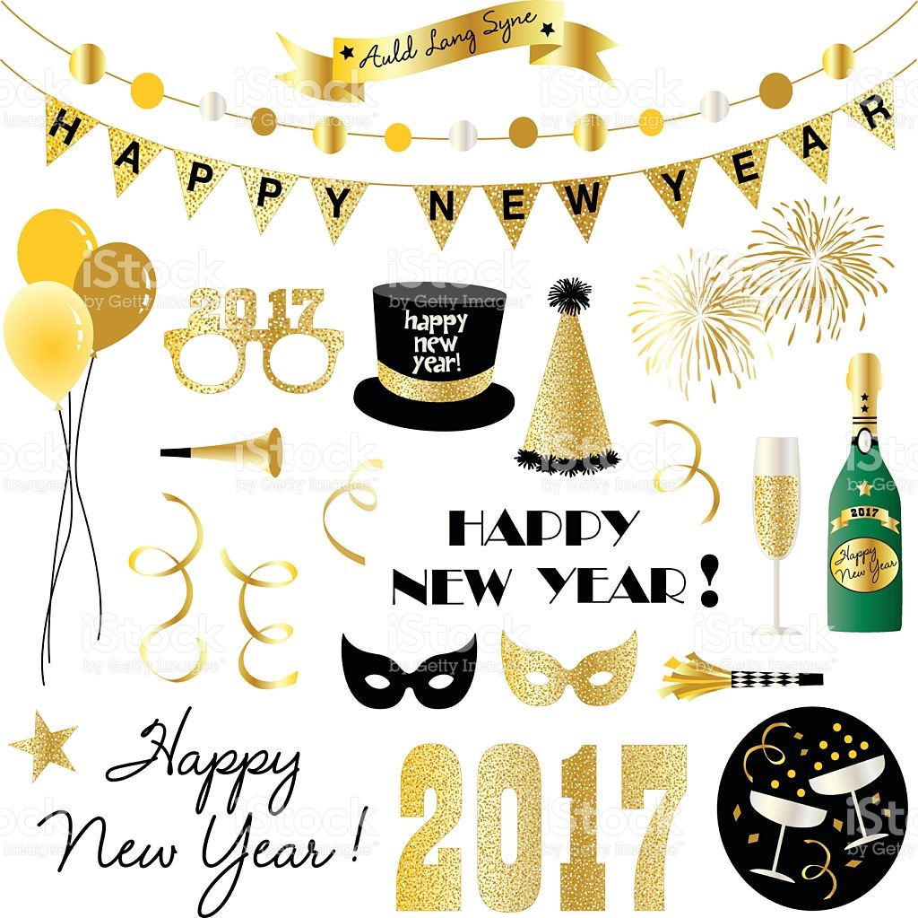 new years eve clipart royalty-free stock vector art
