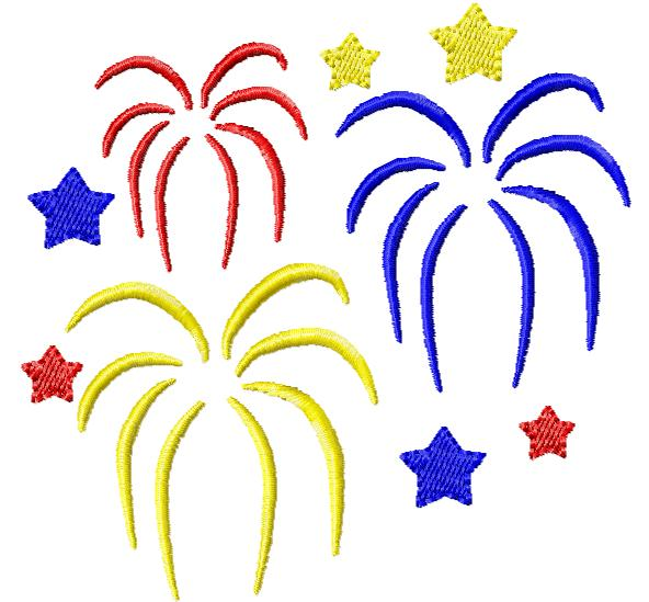 New years fireworks clipart free images