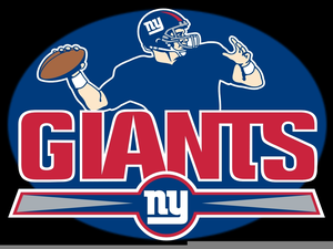 New York Giants Helmet Clipart Image