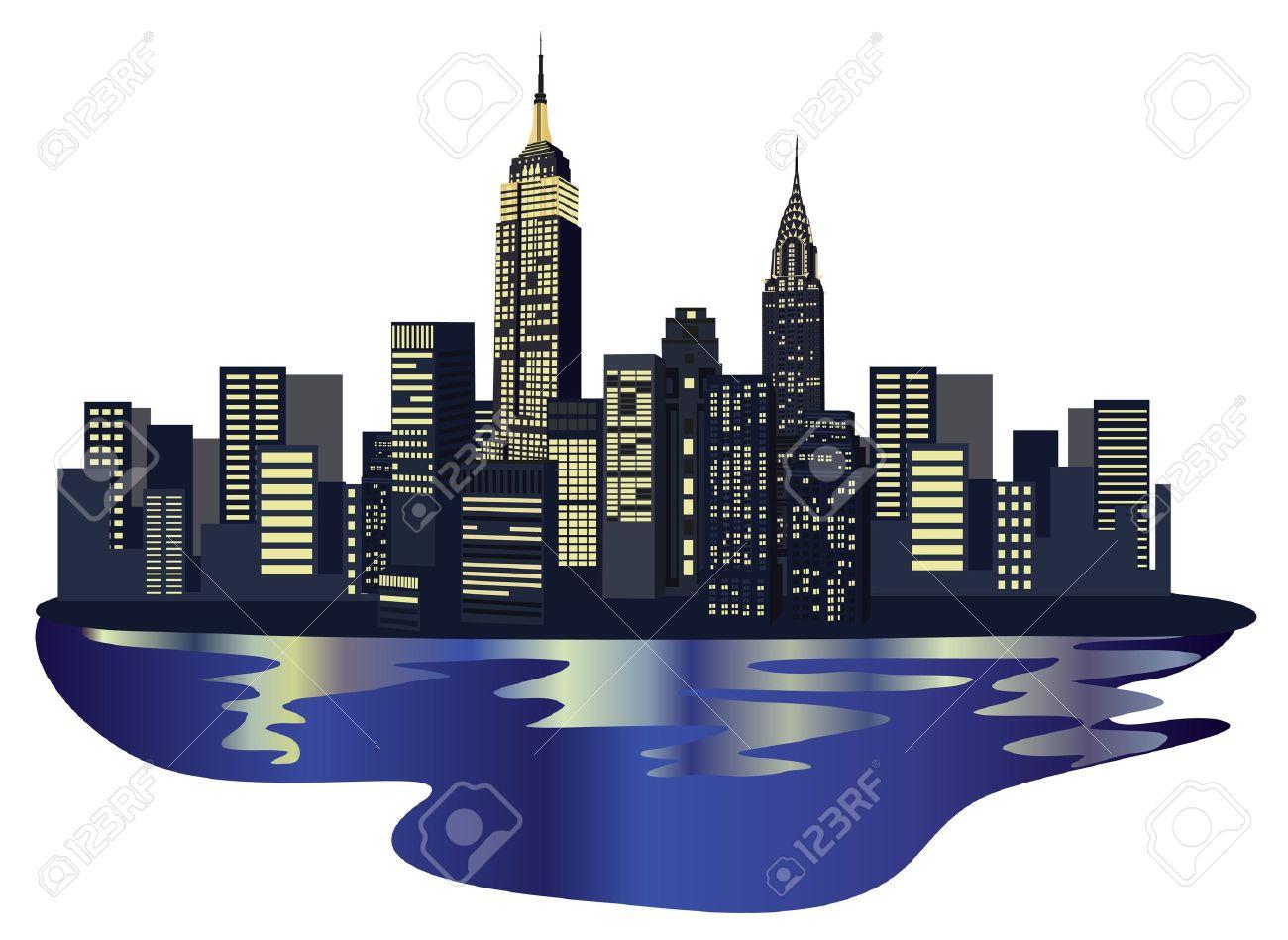 new york skyline: Illustration .