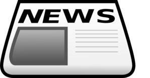 News Paper With Lines Clip Art