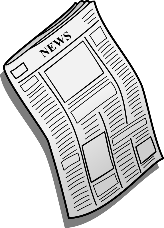 Newspaper Retro Clipart Illus