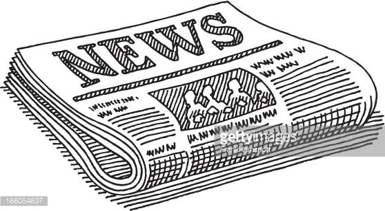 Newspaper Black White Clipart-Newspaper black white Clipart-16