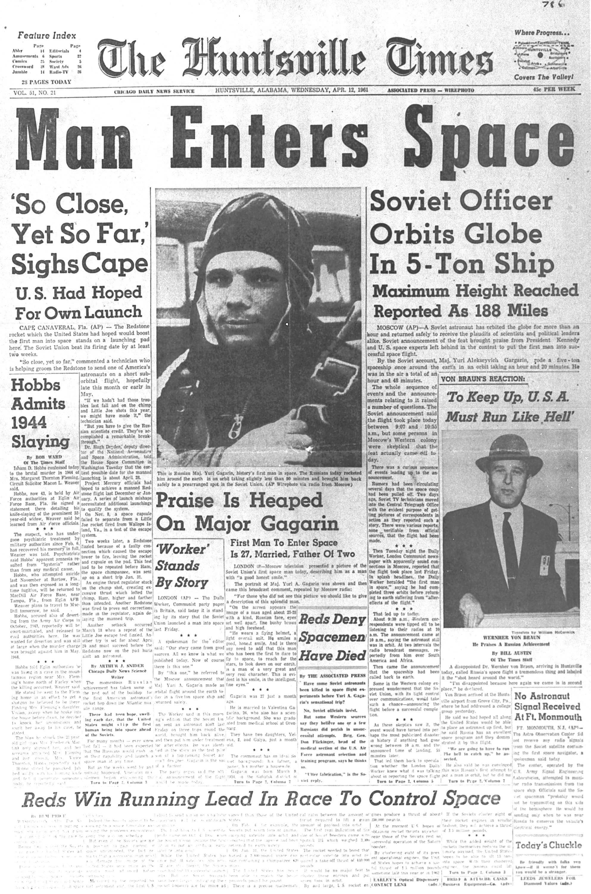 Newspaper clip for Yuri Gagarin-Newspaper clip for Yuri Gagarin-5