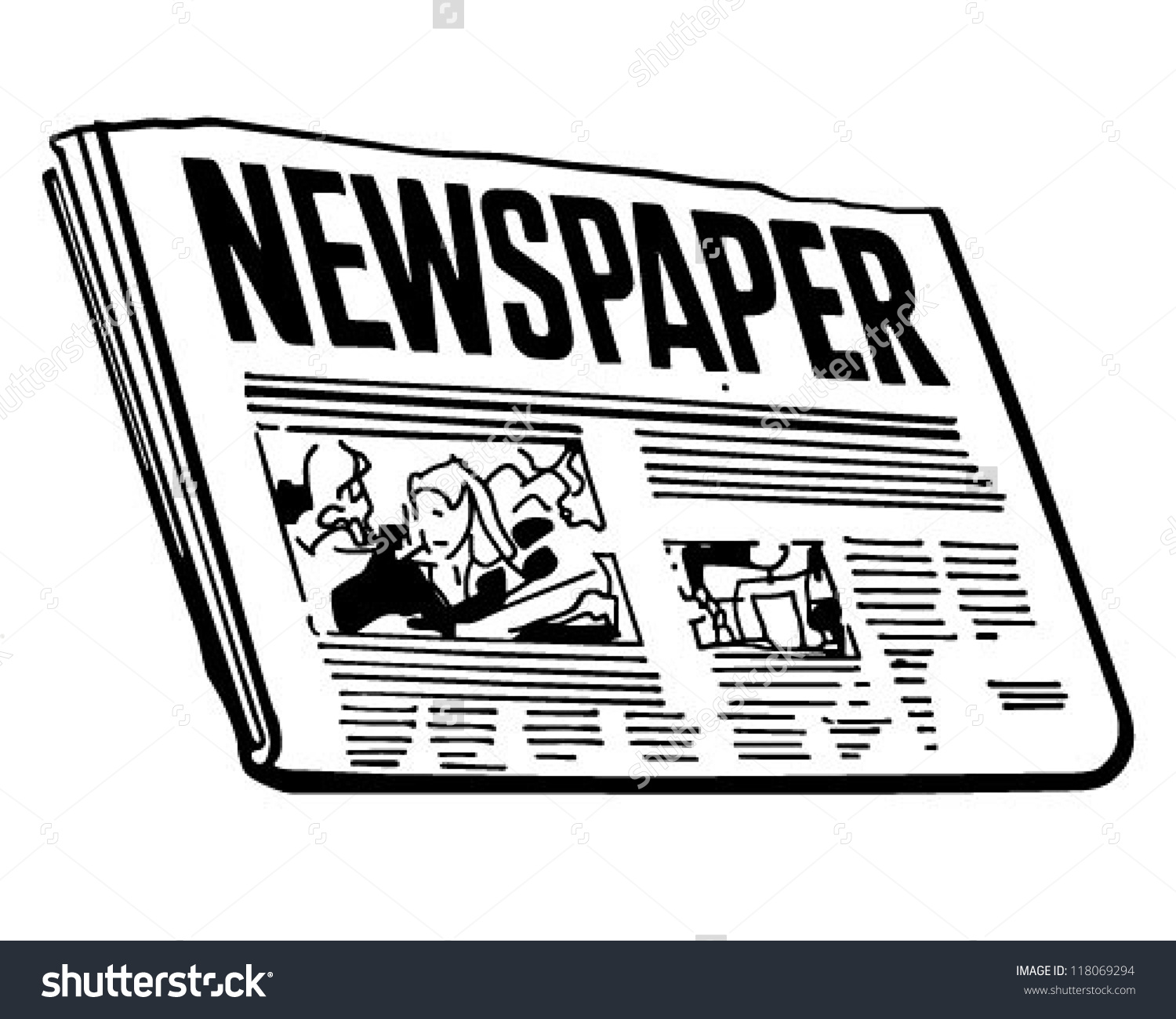 Clipart Of Newspaper Free Clip Art Image-Clipart Of Newspaper Free Clip Art Images FreeClipart Pw-3