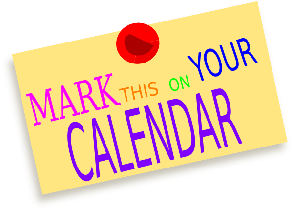 Newspaper Mark The Date Clip  - Mark Your Calendar Clip Art