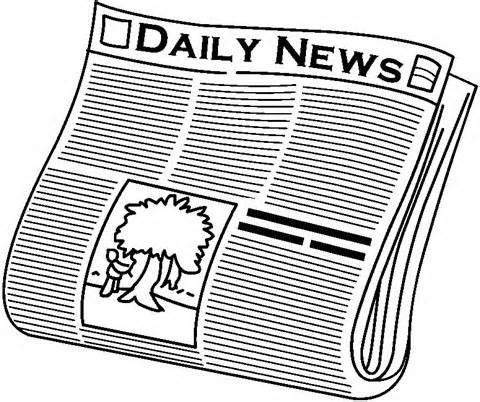 Newspaper paper clip art black and white-Newspaper paper clip art black and white clipart image-4