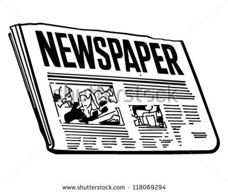 Newspaper Retro Clipart Illustration 118069294 Shutterstock