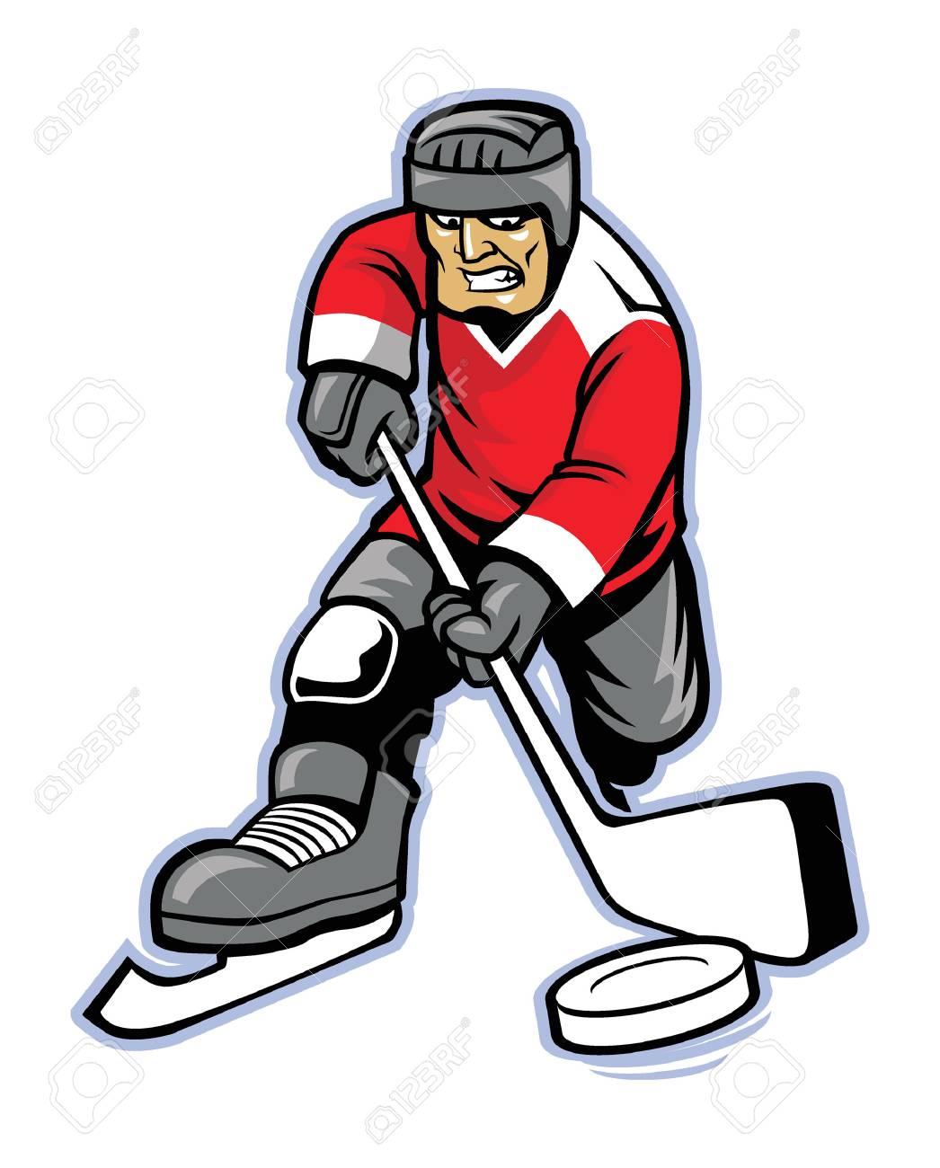 ice hockey player Illustration