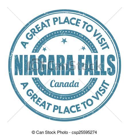 ... Niagara Falls stamp - Niagara Falls grunge rubber stamp on.