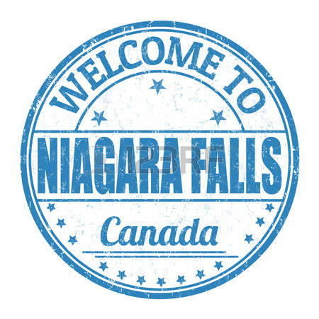 niagara falls: Welcome to Niagara Falls grunge rubber stamp on white  background, vector illustration