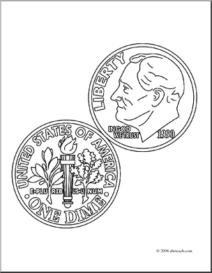Nickel Coloring Page Coloring Page Dime Coloring Coin Currency Clip Art Cent Coloring Page ...
