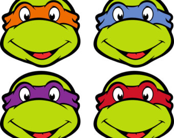 Ninja Turtle Faces Free Clipa - Teenage Mutant Ninja Turtles Clipart