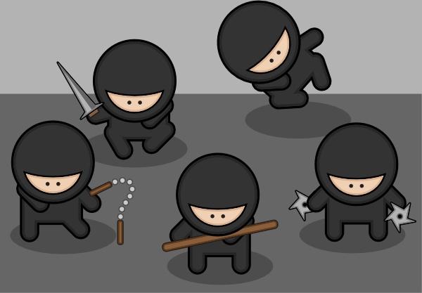 Ninjas Clip Art Free Vector 180.18KB-Ninjas clip art Free vector 180.18KB-14