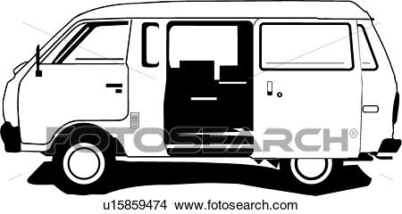 Clipart - Nissan Van . Fotosearch - Search Clip Art, Illustration Murals,  Drawings and