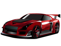 Customized nissan GTR turbo drifting