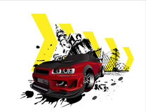 Customized nissan skyline GTR grunge cit-Customized nissan skyline GTR grunge city. Vectorized illustration of  customized GTR nissan skyline concept Japanese-8