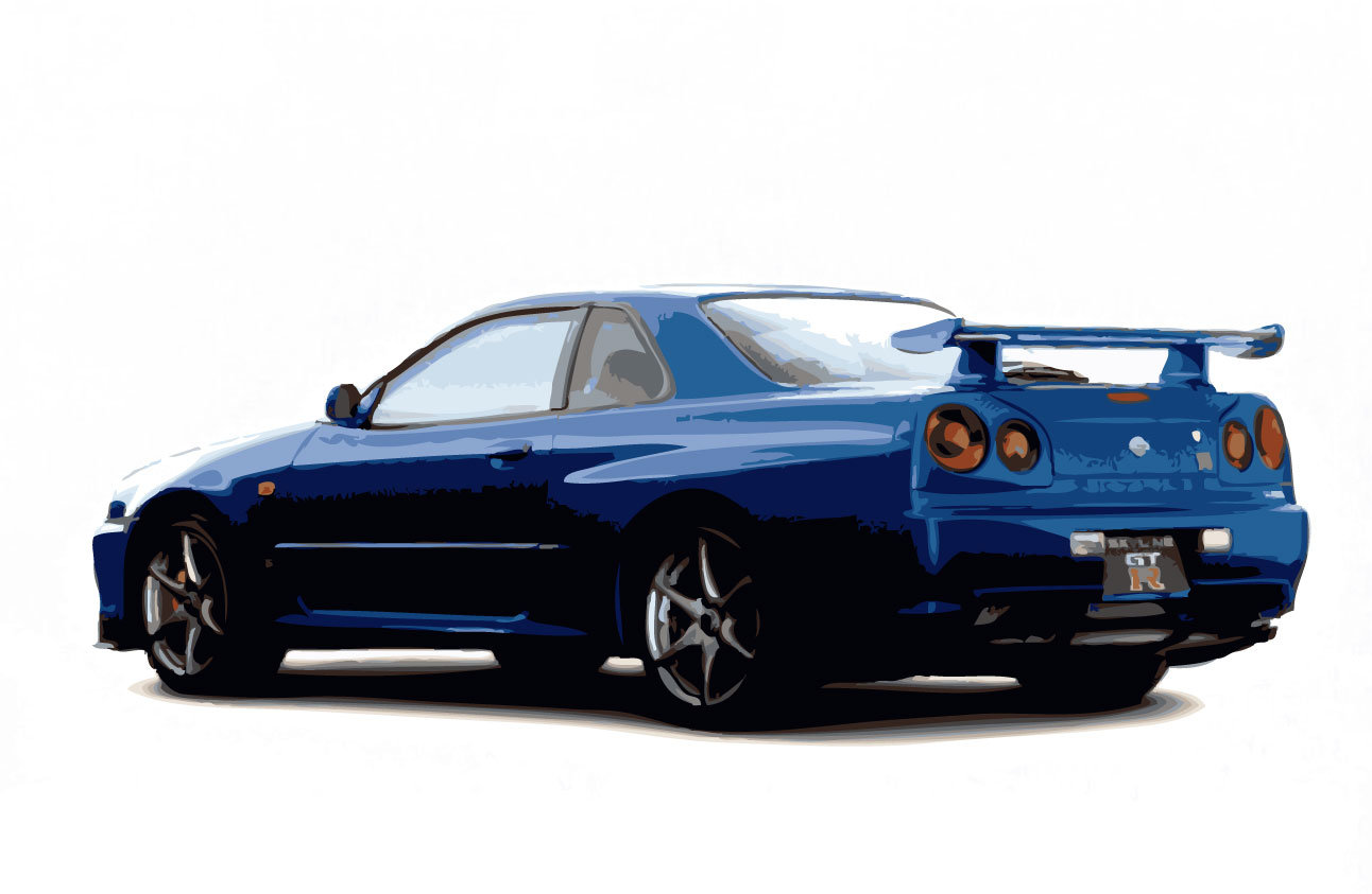 Nissan skyline clipart vector by rizzodesign ClipartLook.com