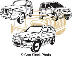 Off-Road Cars - Vector set. Vinyl-Ready.-Off-Road Cars - Vector set. Vinyl-Ready.-15