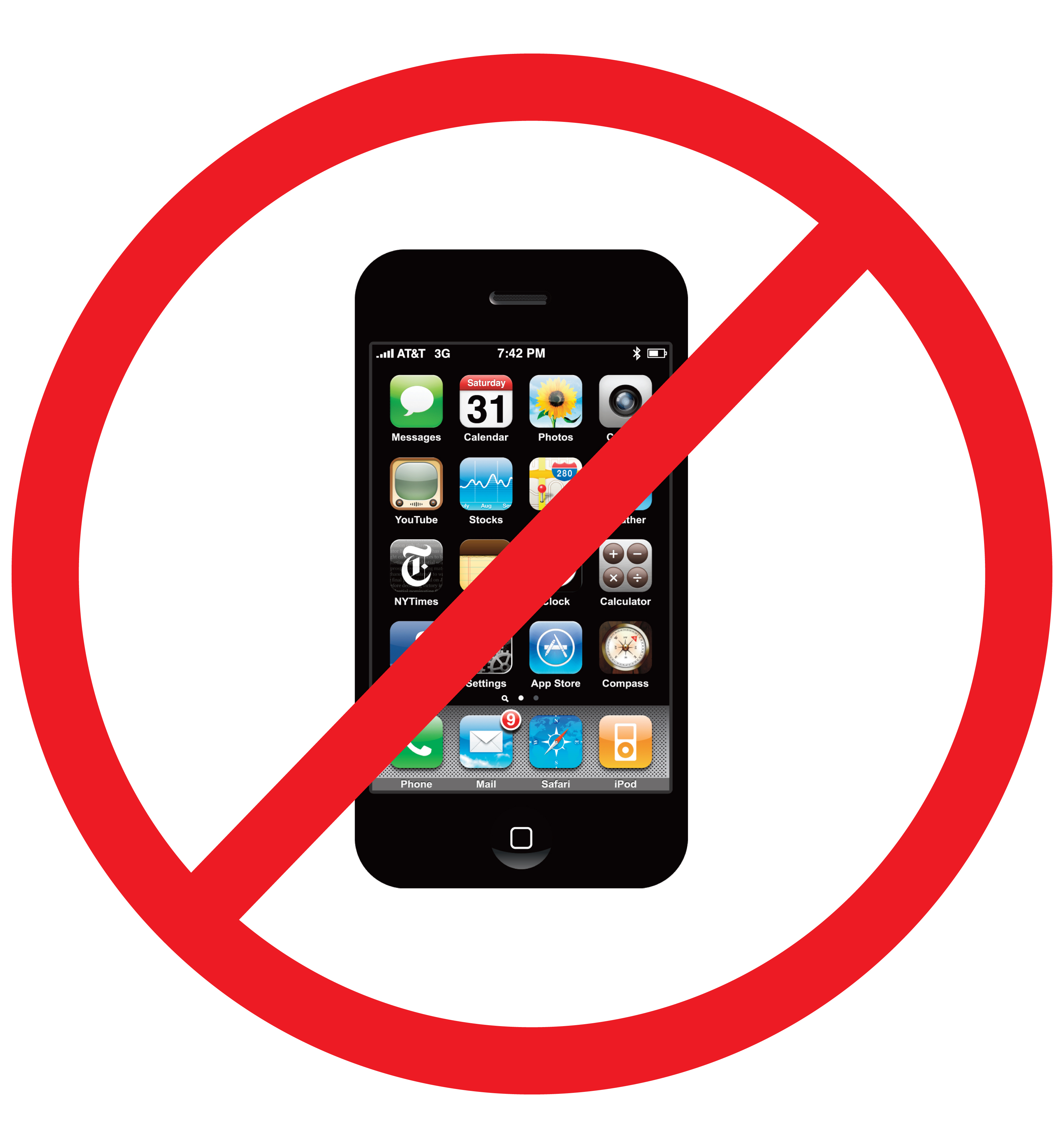 no cell phone clipart-no cell phone clipart-1