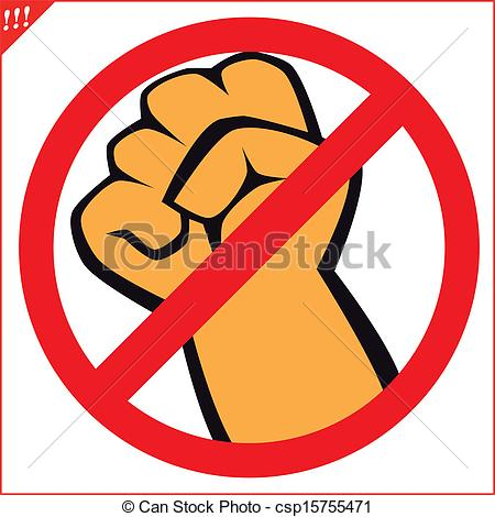 No Fighting Clipart Vector .