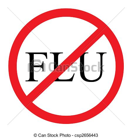 No Flu Graphic - A red and black \u0026quot;no flu .