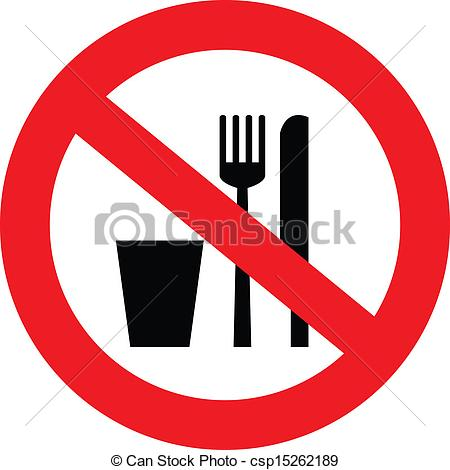 ... no food and drink sign -  - No Food Clipart