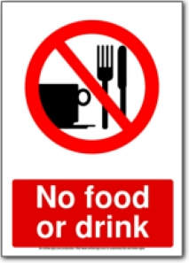 No Food or Drink Clip Art