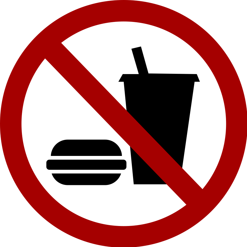 No food or drinks clipart ...