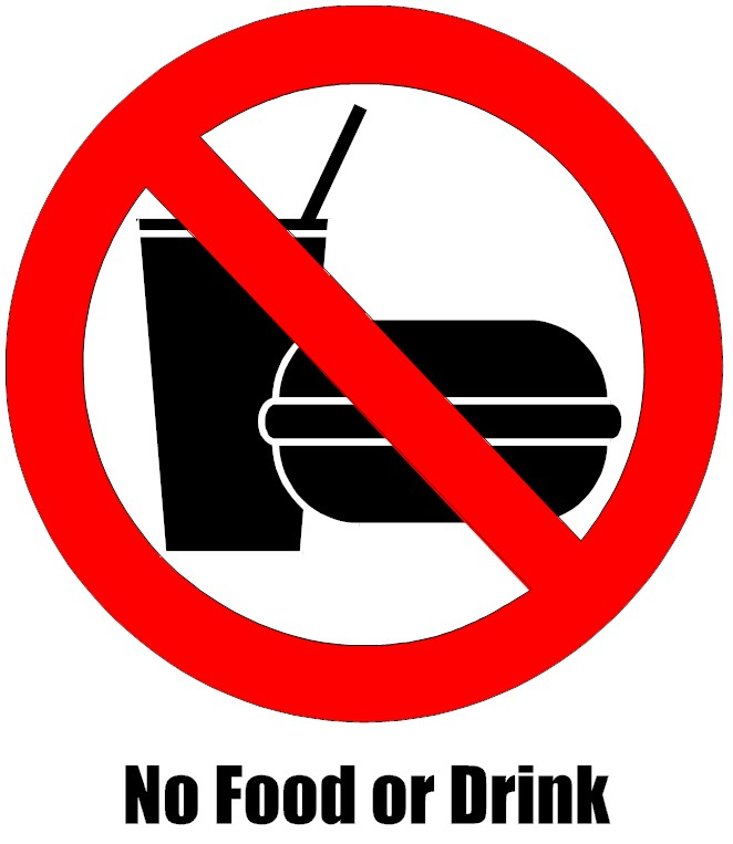 No Food Or Drinks Sign ...