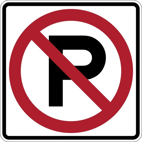 No Parking Sign clip art