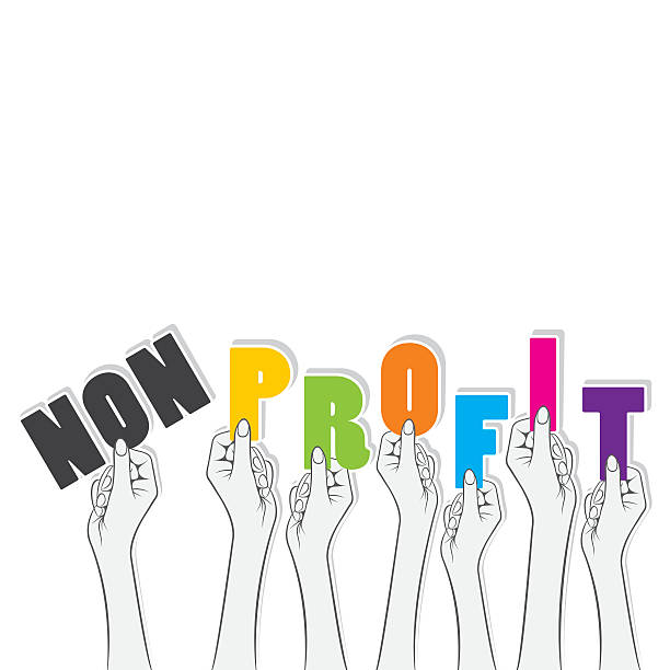 non-profit banner design vector art illustration