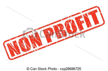 Non profit red stamp text - csp28686725