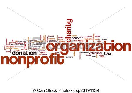 Nonprofit organization word cloud - csp23191139