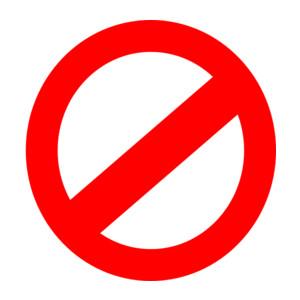 No Symbol clip art - .