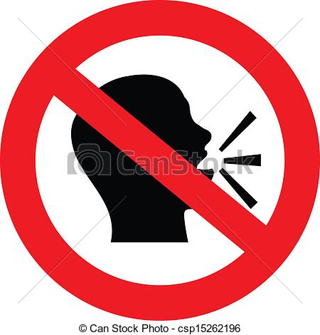 no talking sign - a sign showing no talking or chat is... ...