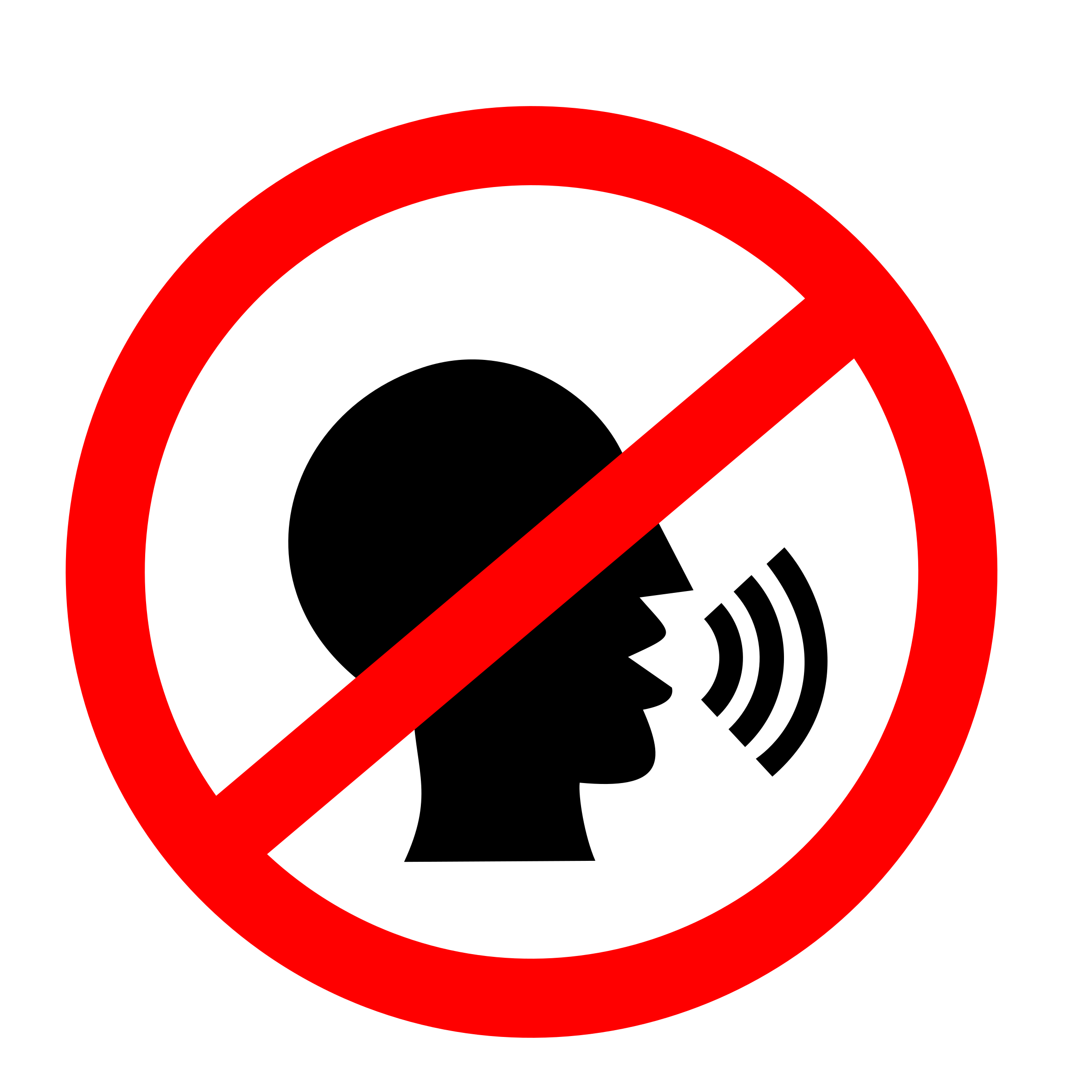 No Talking Sign By Rofrol