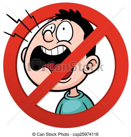 ... No talking - Vector illustration of No talking sign