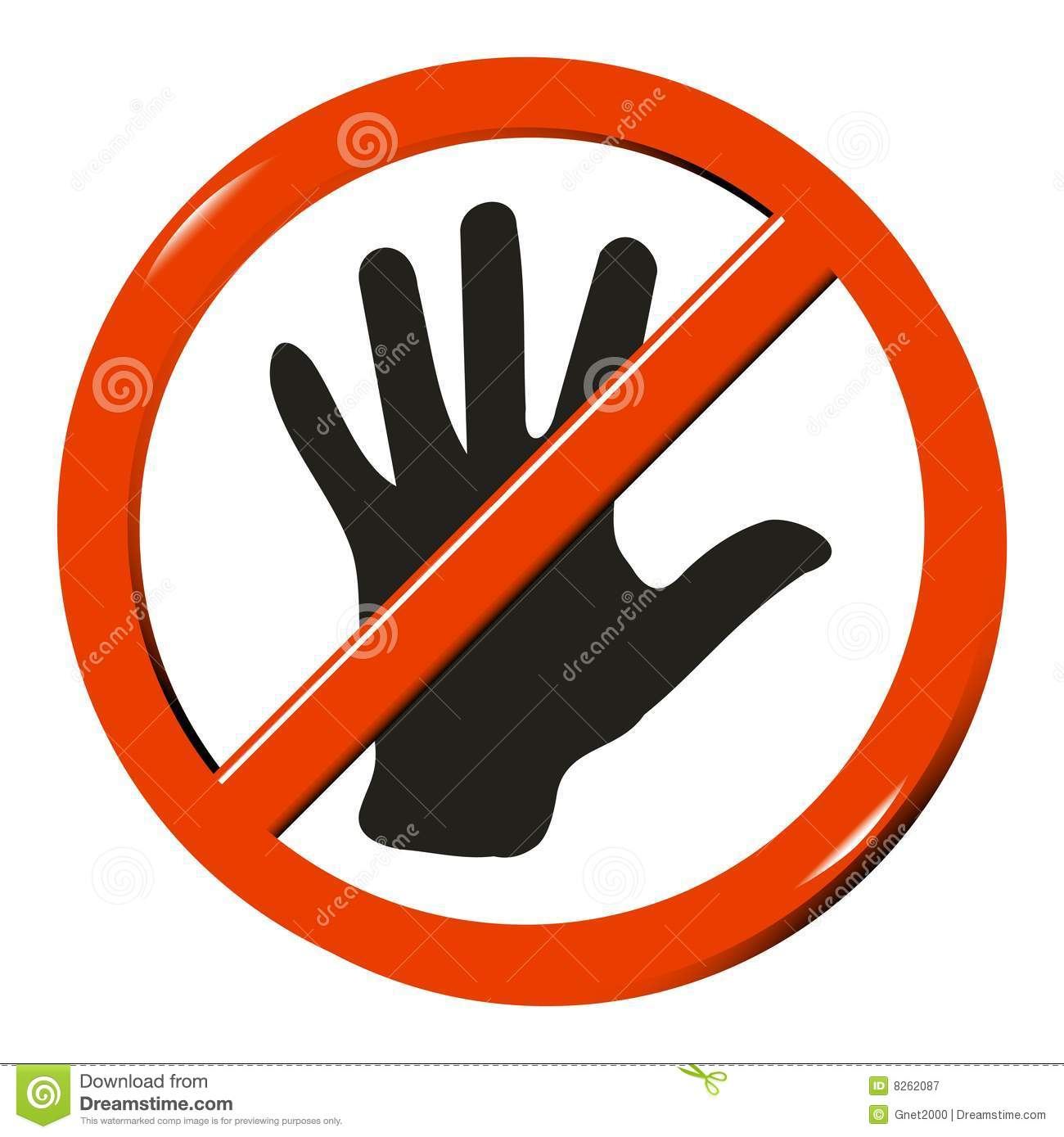 No Touching Sign Computer Generated Image Mr No Pr No 3 3273 5