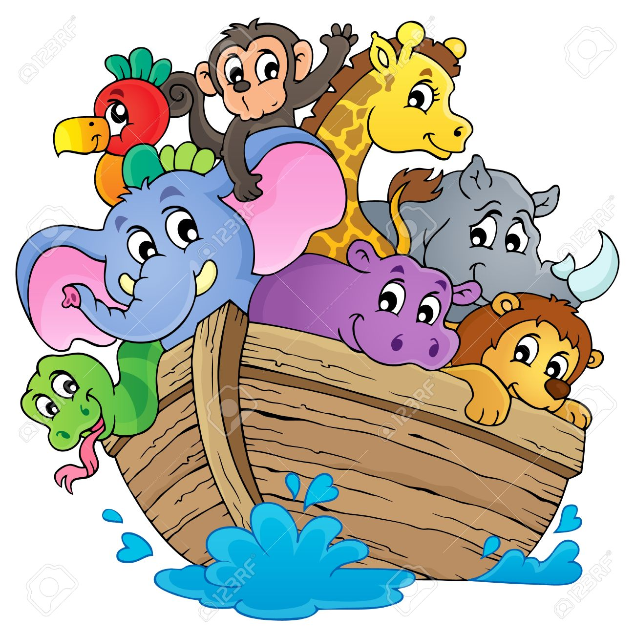 Noahs ark theme image Stock Vector - 28029388
