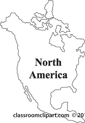North America Line Clipart #1