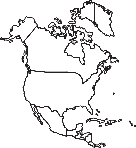 North America Map Clip Art At Clker Com Vector Clip Art Online